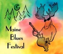 Maine Blues Festival logo design | Alpha Omega Photography • Naples Maine